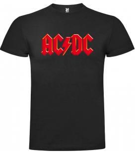 AC/DC Logo Red Camiseta Manga Corta