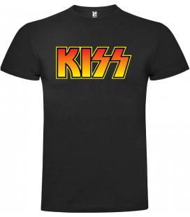 Kiss Logo Vintage Camiseta Manga Corta