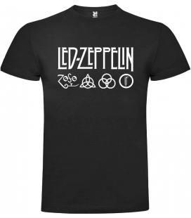 Led Zeppelin Logo Camiseta Manga Corta