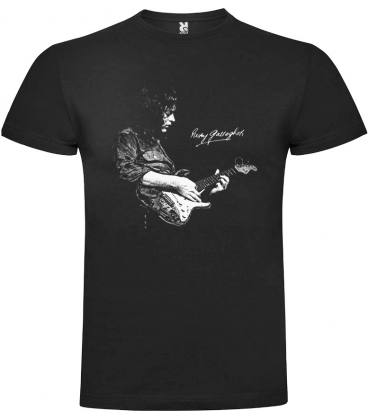 Rory Gallagher Foto Camiseta Manga Corta