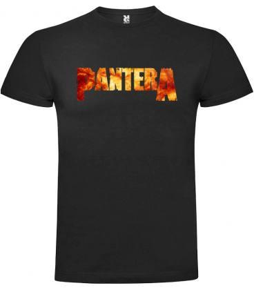 Pantera Logo Camiseta Manga Corta