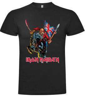 Iron Maiden Trooper Horse Camiseta Manga Corta