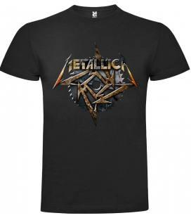 Metallica Toothead Disk Camiseta Manga Corta