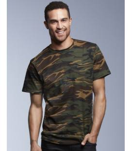 Camiseta camuflaje Heavyweight hombre