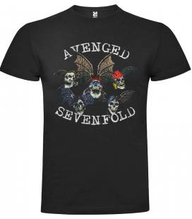 Avenged Sevenfold Skulls Camiseta Manga Corta