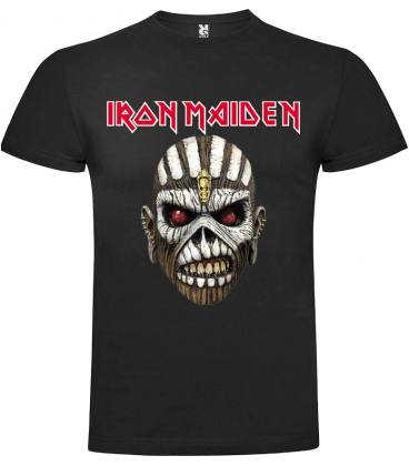 Iron Maiden Mask Camiseta Manga Corta