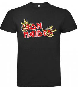 Iron Maiden Hands Camiseta Manga Corta