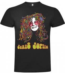 Janis Joplin Face Camiseta Manga Corta