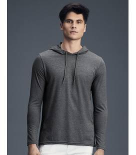 Camiseta con capucha manga larga