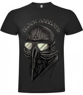 Black Sabbath Mask Camiseta Manga Corta