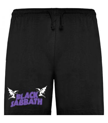 Black Sabbath Logo Bermudas