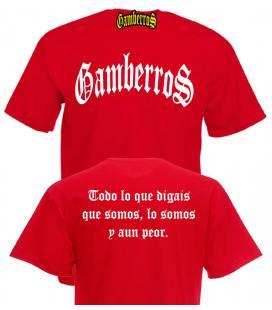 Camiseta Gamberros Clasica Roja con espalda