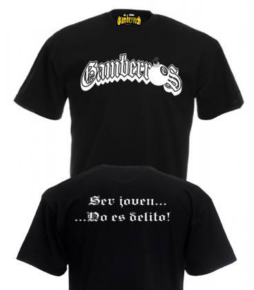 Camiseta Gamberros Ser Joven... No Es Delito! Con espalda