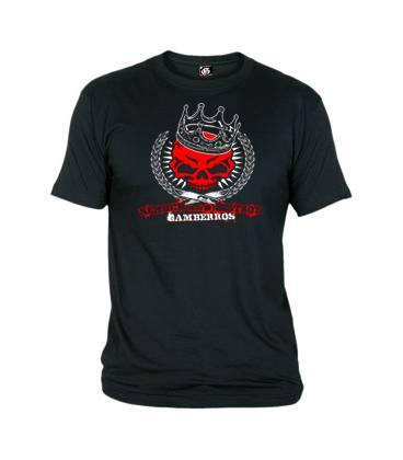 Camiseta Gamberros Calavera Roja