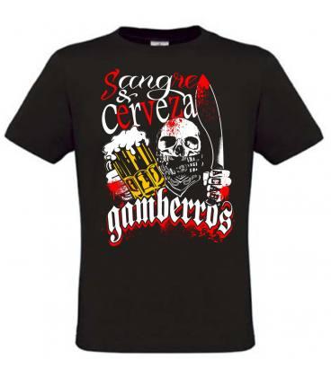 Camiseta Gamberros Sangre y cerveza