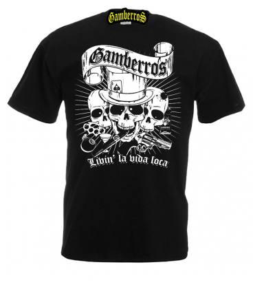 Camiseta Gamberros Livin la vida loca negra