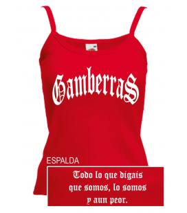 Gamberras Top Tirantes Clásico Rojo