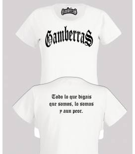 Camiseta Gamberras Clásica Blanca