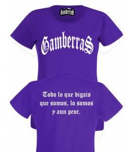 Camiseta Gamberras Clásica Púrpura