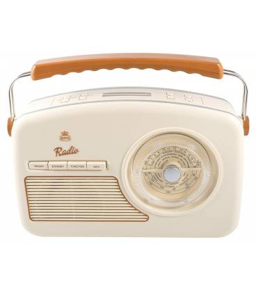 Radio - GPO Rydell Nostalgic Dab Radio Cream/Brown
