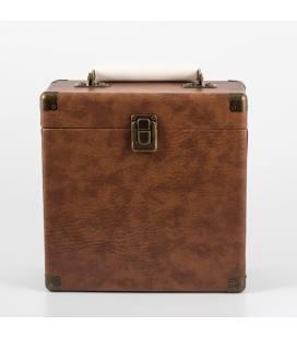 """Caja Vinilos - GPO Vinyl Case Brown 7"""""""