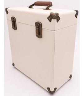 """Caja Vinilos - GPO Vinyl Case Cream/Tan 12"""""""