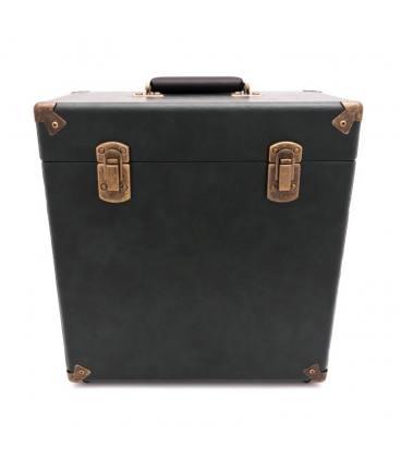 "Caja Vinilos - GPO Vinyl Case Green/Black 12"""