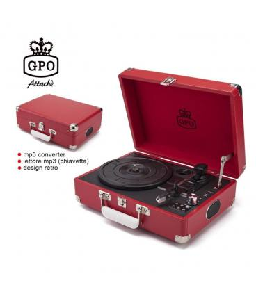 Tocadiscos - GPO Attaché Pillarbox Red