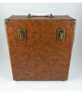"""Caja Vinilos - GPO Vinyl Case Brown 12"""""""