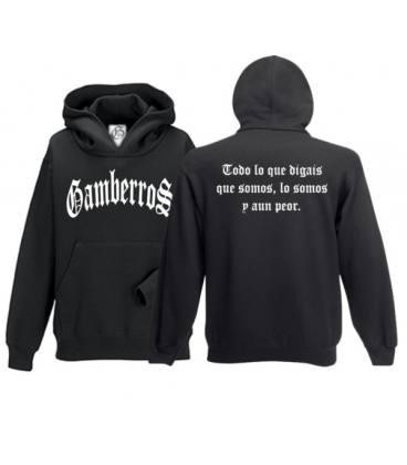 Sudadera con capucha Gamberros Clásica negra