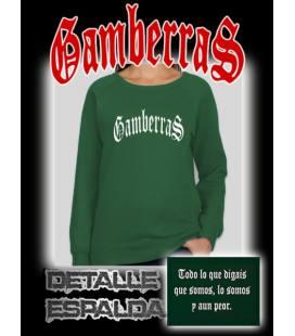 Sudadera sin capucha Gamberras Clásica verde
