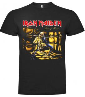 Iron Maiden Piece Of Mind Camiseta Manga Corta