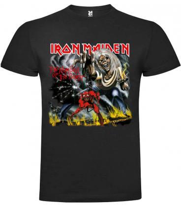Iron Maiden The Number Of The Beast Camiseta Manga Corta