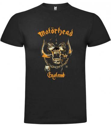 Motörhead England Yellow Camiseta Manga Corta Bandas