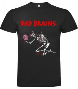 Bad Brains Skull Camiseta Manga Corta Bandas