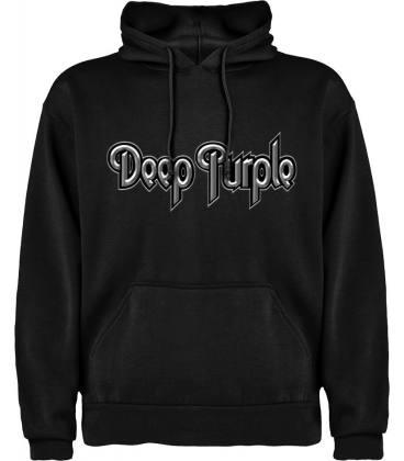 Deep Purple Logo Sudadera con capucha y bolsillo