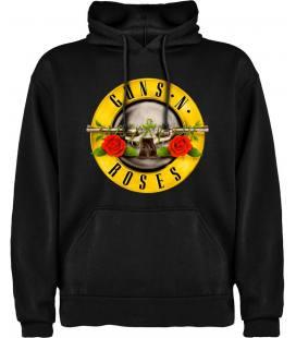 Guns N Roses Circle Sudadera con capucha y bolsillo