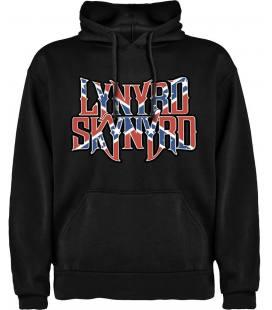 Lynyrd Skynyrd Flag Sudadera con capucha y bolsillo
