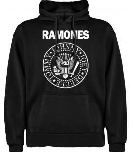 Ramones Logo Sudadera con capucha y bolsillo