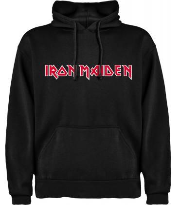 Iron Maiden Logo Sudadera con capucha y bolsillo