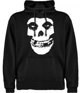 Misfits Skull Sudadera con capucha y bolsillo