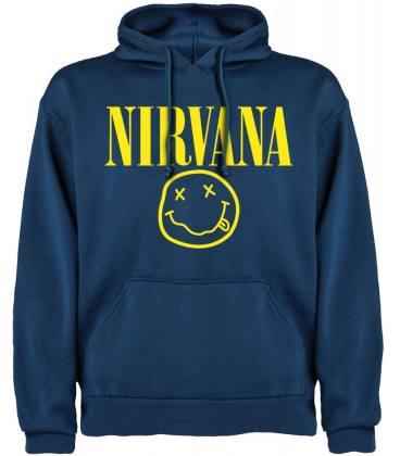 Nirvana Smiley Sudadera con capucha y bolsillo