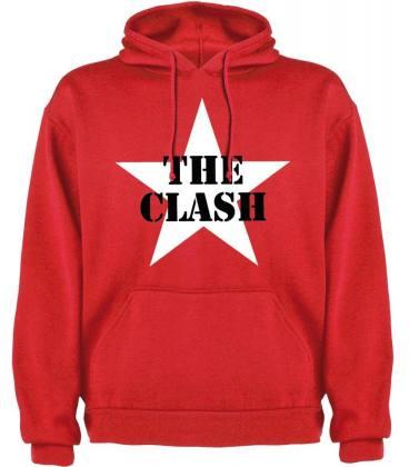The Clash Star Sudadera con capucha y bolsillo