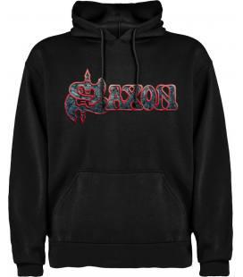 Saxon Logo Sudadera con capucha y bolsillo