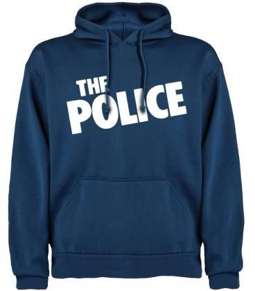 The Police Logo Sudadera con capucha y bolsillo