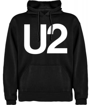 U2 Logo Sudadera con capucha y bolsillo