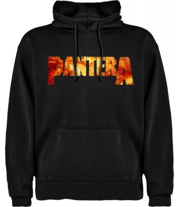 Pantera Logo Sudadera con capucha y bolsillo