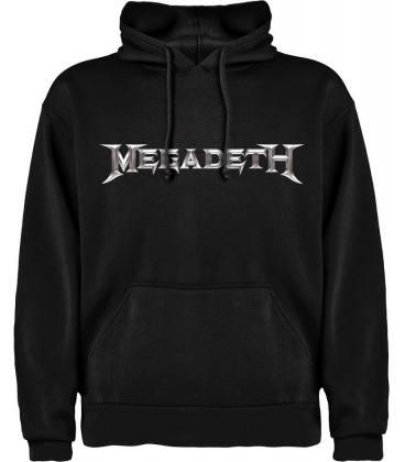 Megadeth Logo Sudadera con capucha y bolsillo