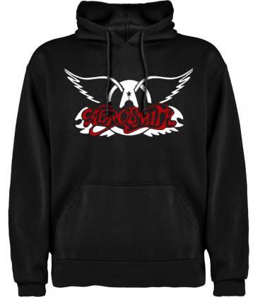 Aerosmith Logo Sudadera con capucha y bolsillo