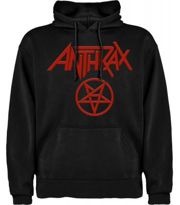 Anthrax Logo Sudadera con capucha y bolsillo